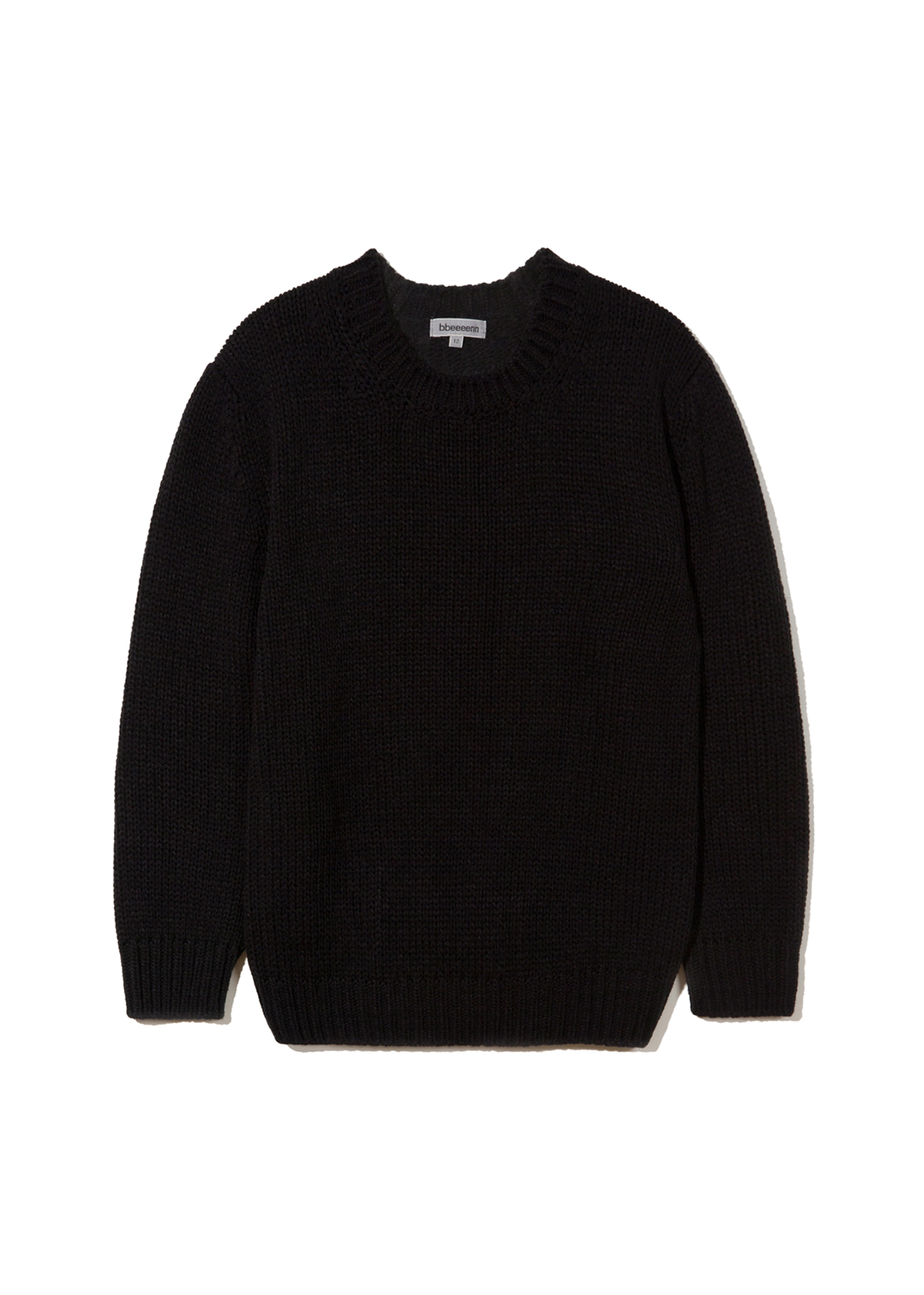 DADDY)Ben)Chunky Warm Knit_Black