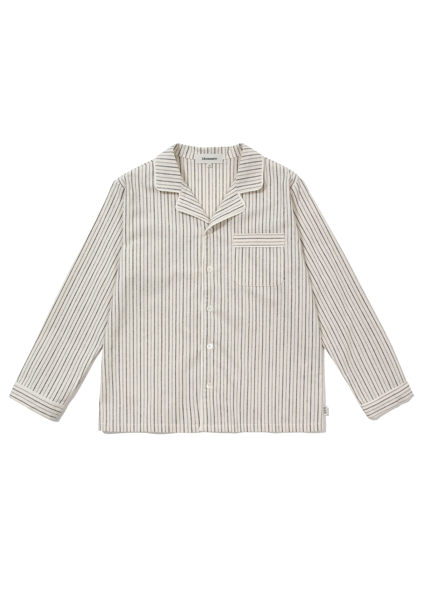 ben Peach Stripe Pajama Shirt