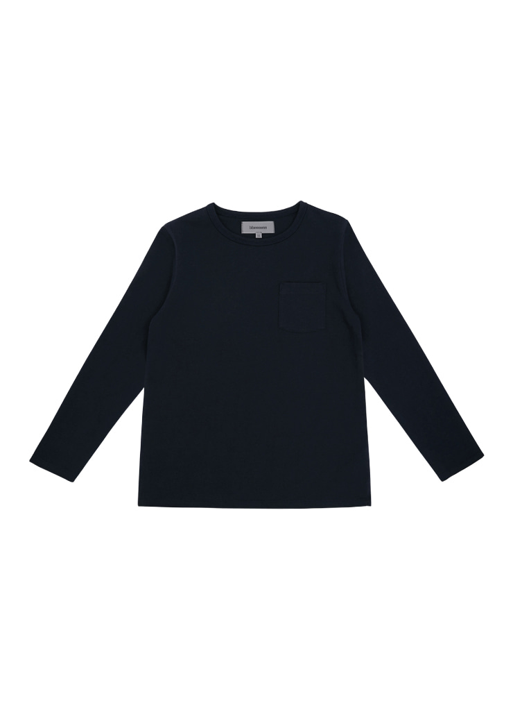 Round Neck Long Sleeve T_Navy