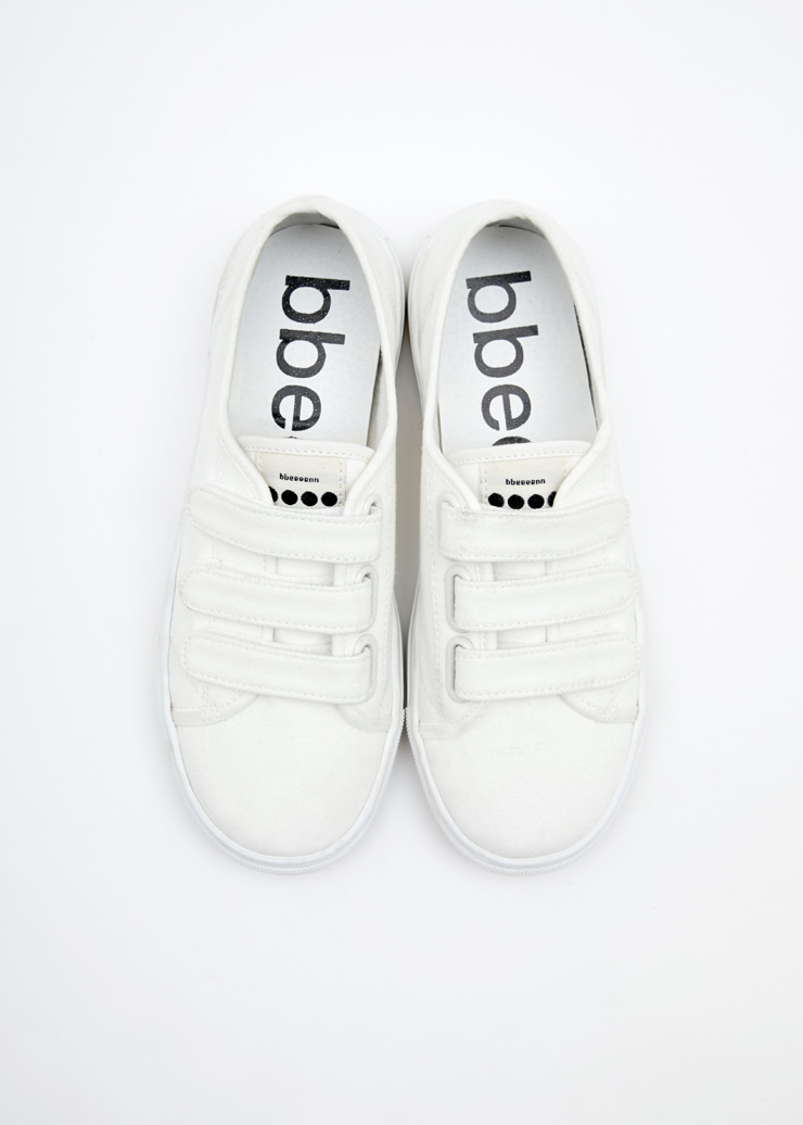 ben Cotton Velcro Shoes_White