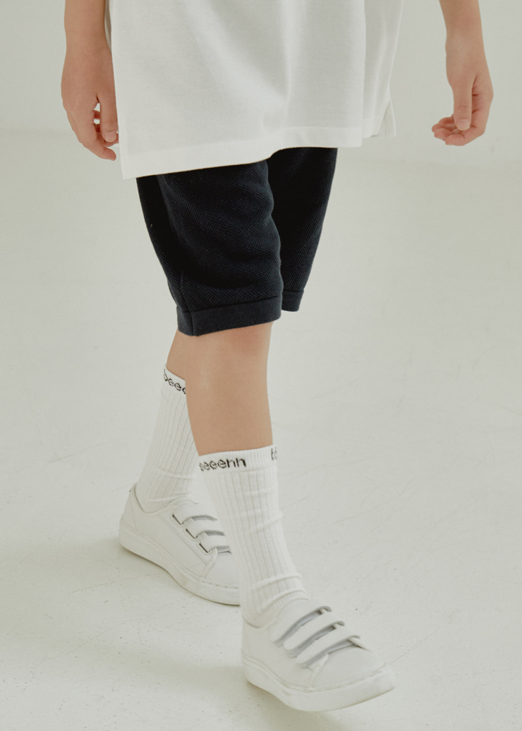 ben Tennis Knit Half Pants_Navy