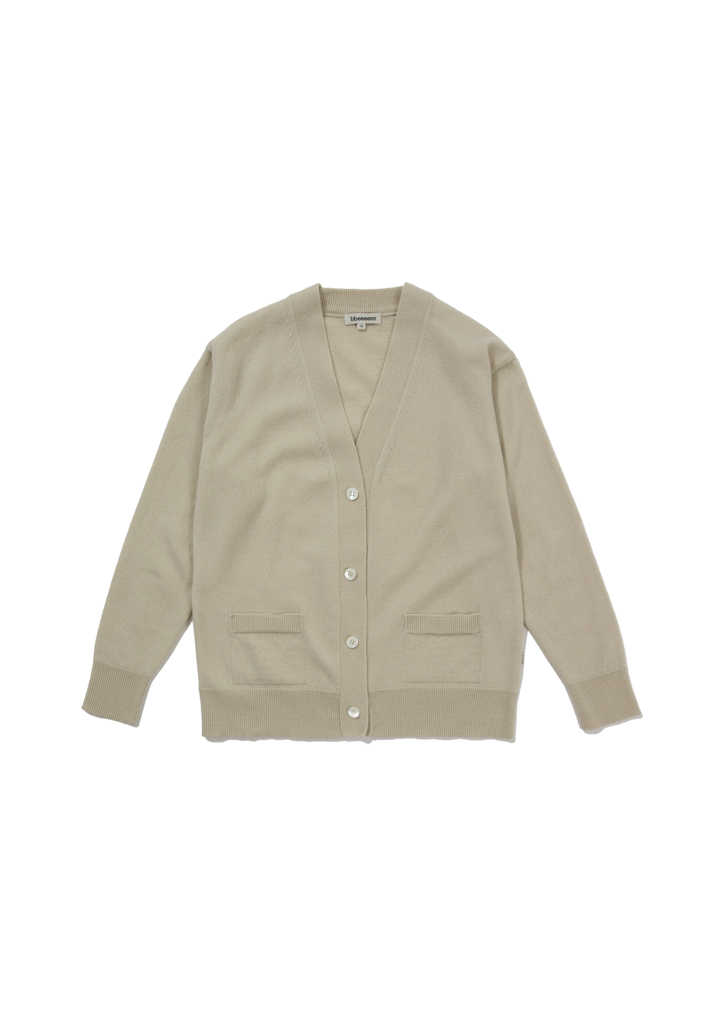 Steady Wool Knit Cardigan_Ecru