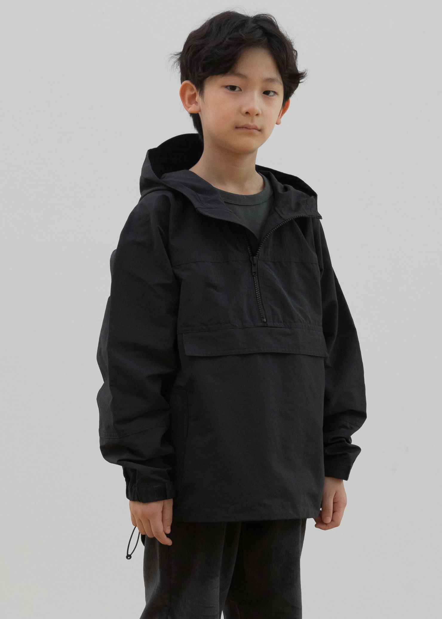 ben Wind Anorak_Charcoal