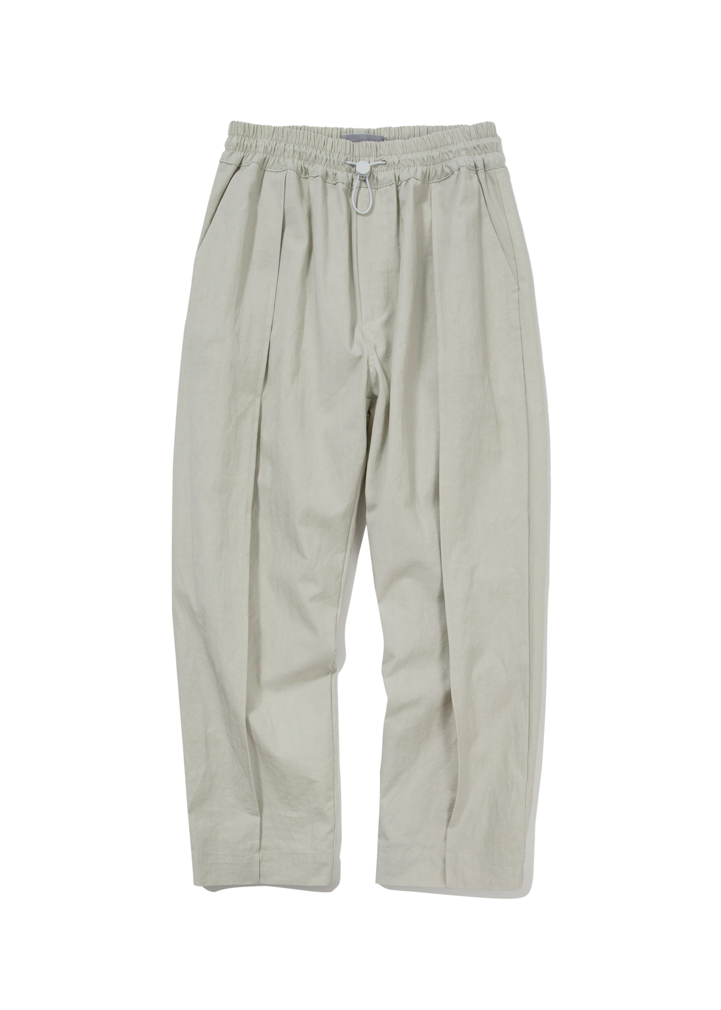 ben String Pintuck Pants_Grayish Beige